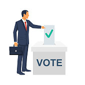 Voting concept. Vector illustration flat design style