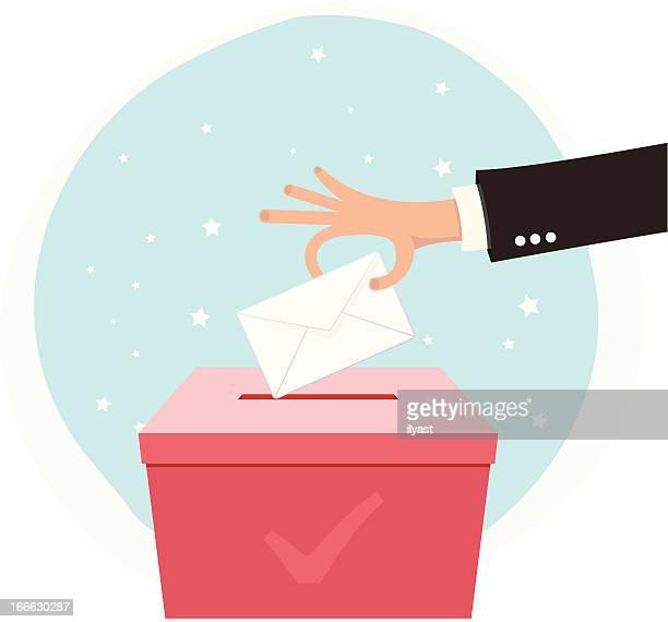 illustrations, cliparts, dessins animés et icônes de vote la main - voter