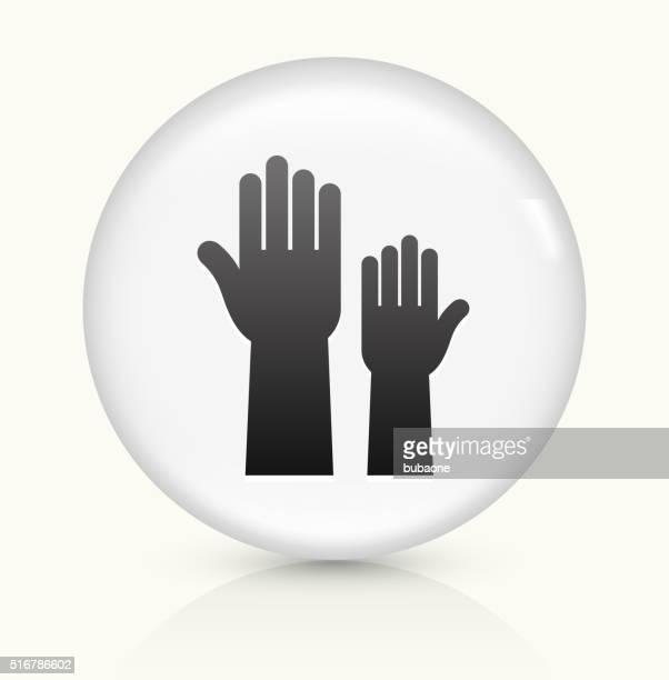 Voting icon on white round vector button