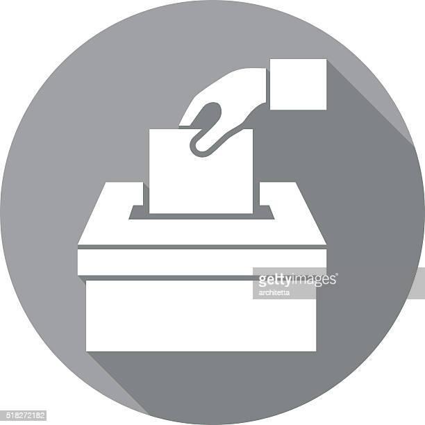 voting icon - ballot stock illustrations