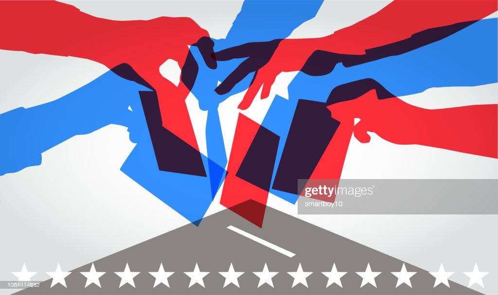 Voting in USA elections : Stock Illustration