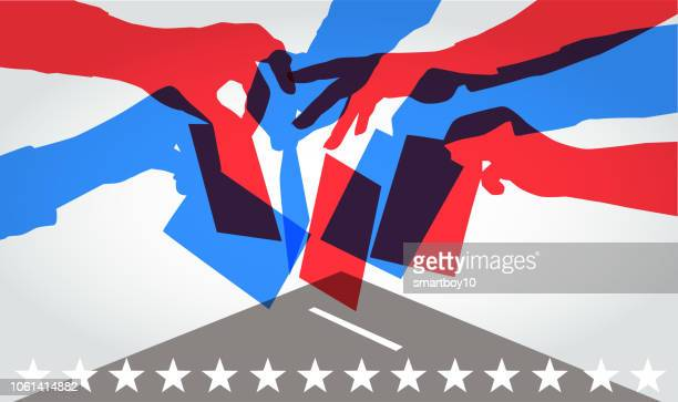 voting in usa elections - political party stock illustrations