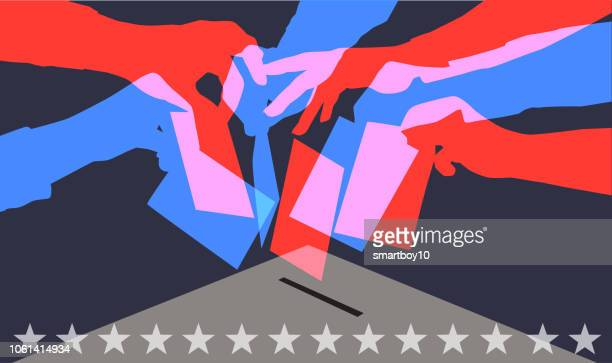 voting in usa elections - presidential election stock illustrations