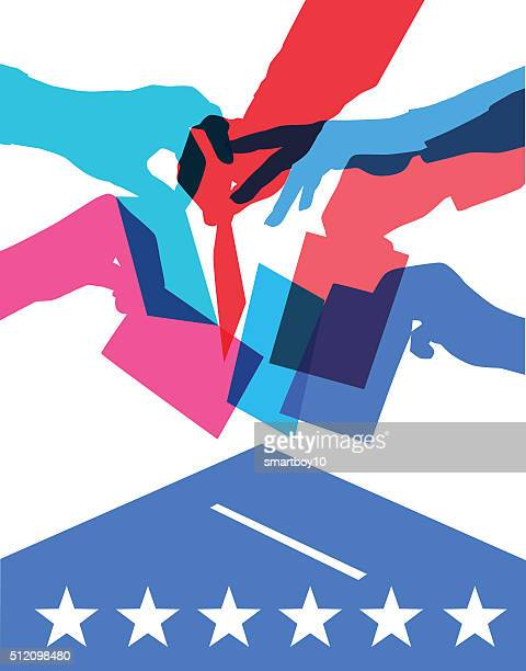 米国選挙投票で - 候補点のイラスト素材/クリップアート素材/マンガ素材/アイコン素材