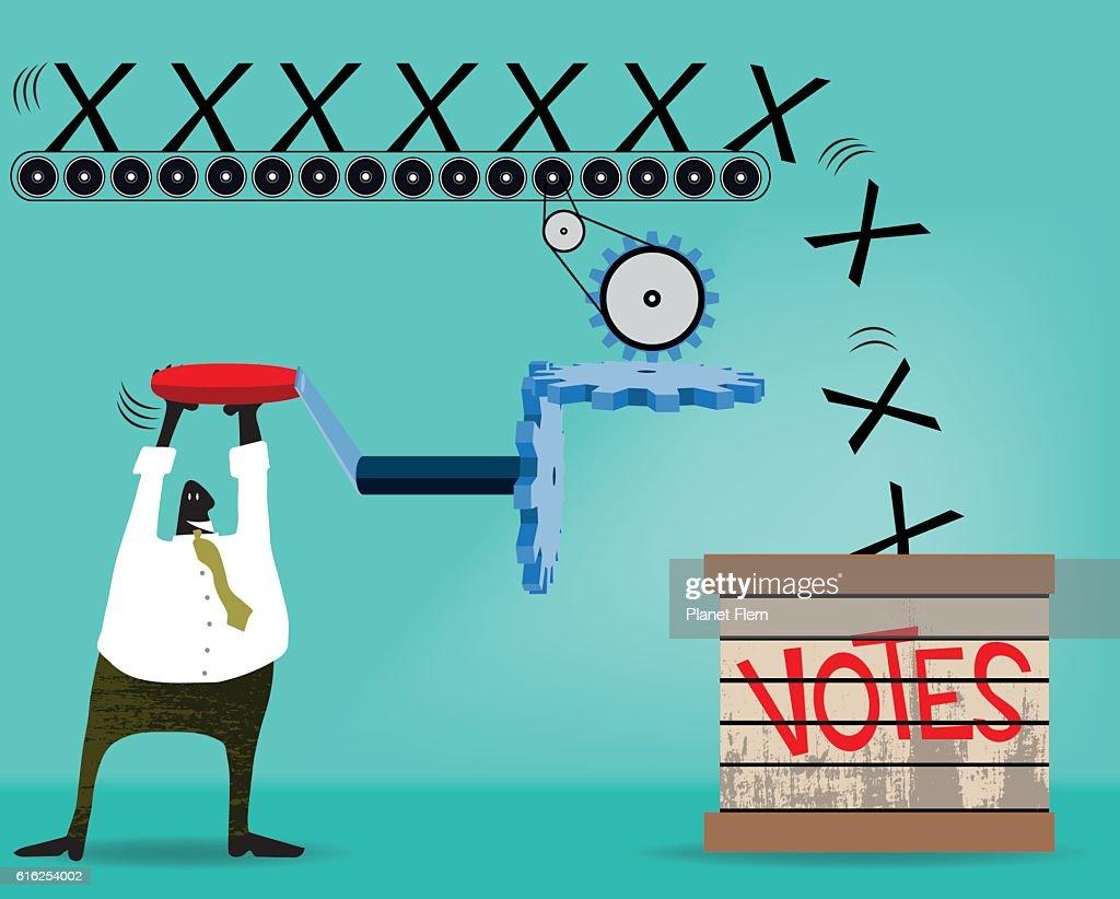 Voting machine : Arte vetorial