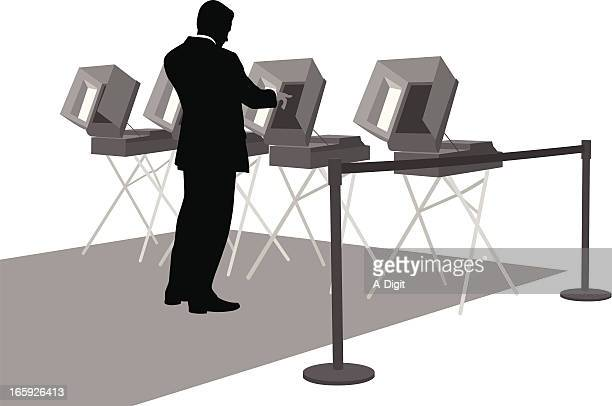 Voting Rights Vector Silhouette