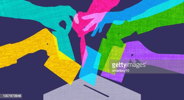 voting - conservative party uk stock illustrations