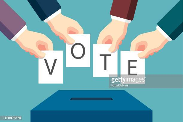 voting - voting stock illustrations