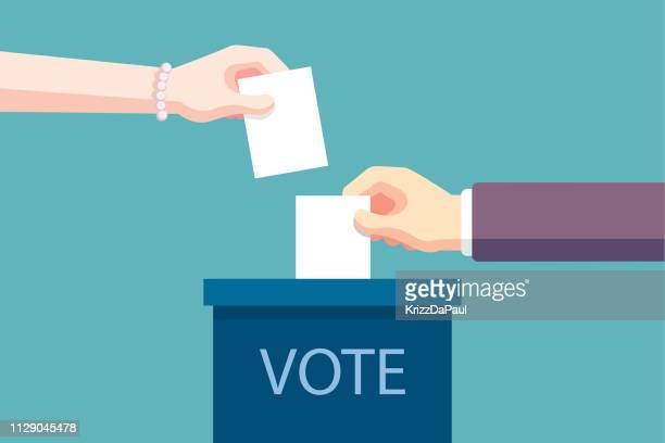 voting - ballot box stock illustrations