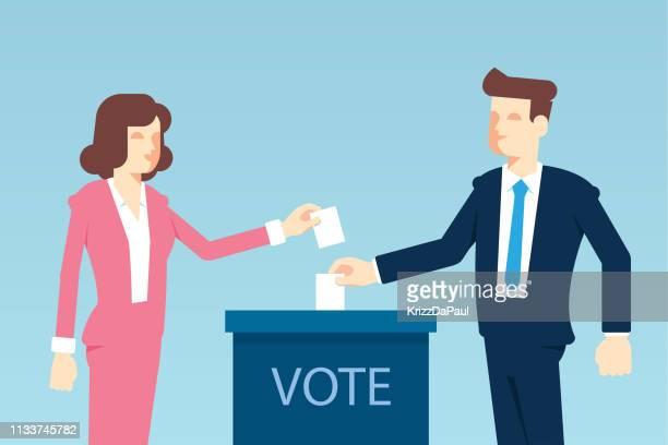 voting - voting ballot stock illustrations
