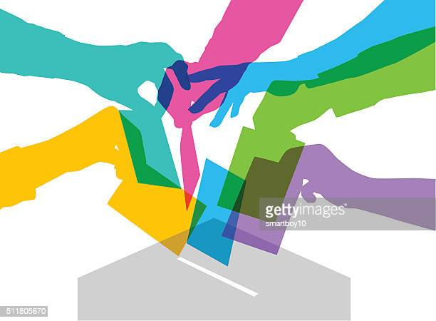 voting - election voting stock illustrations