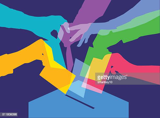 voting - political party stock illustrations