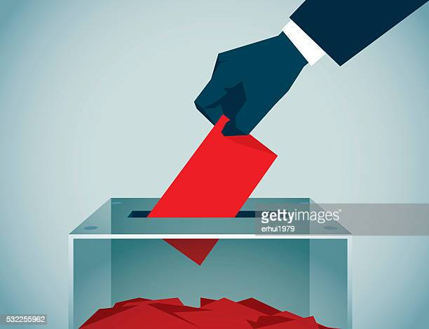 stockillustraties, clipart, cartoons en iconen met voting - democratie