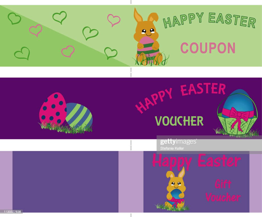 Voucher cards for Easter, double in DIN long.