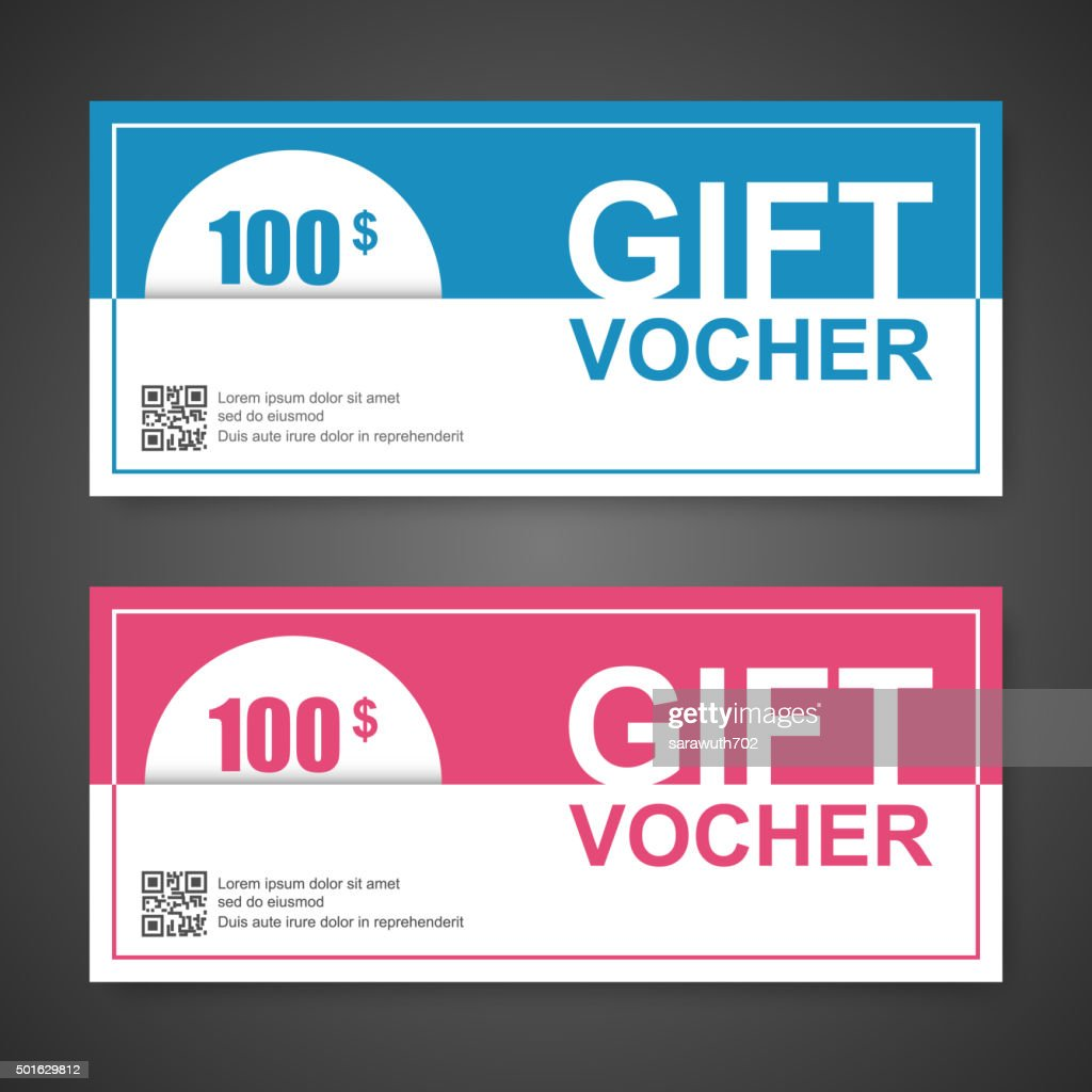 Voucher Gift Certificate Coupon Template Vector Art Getty Images