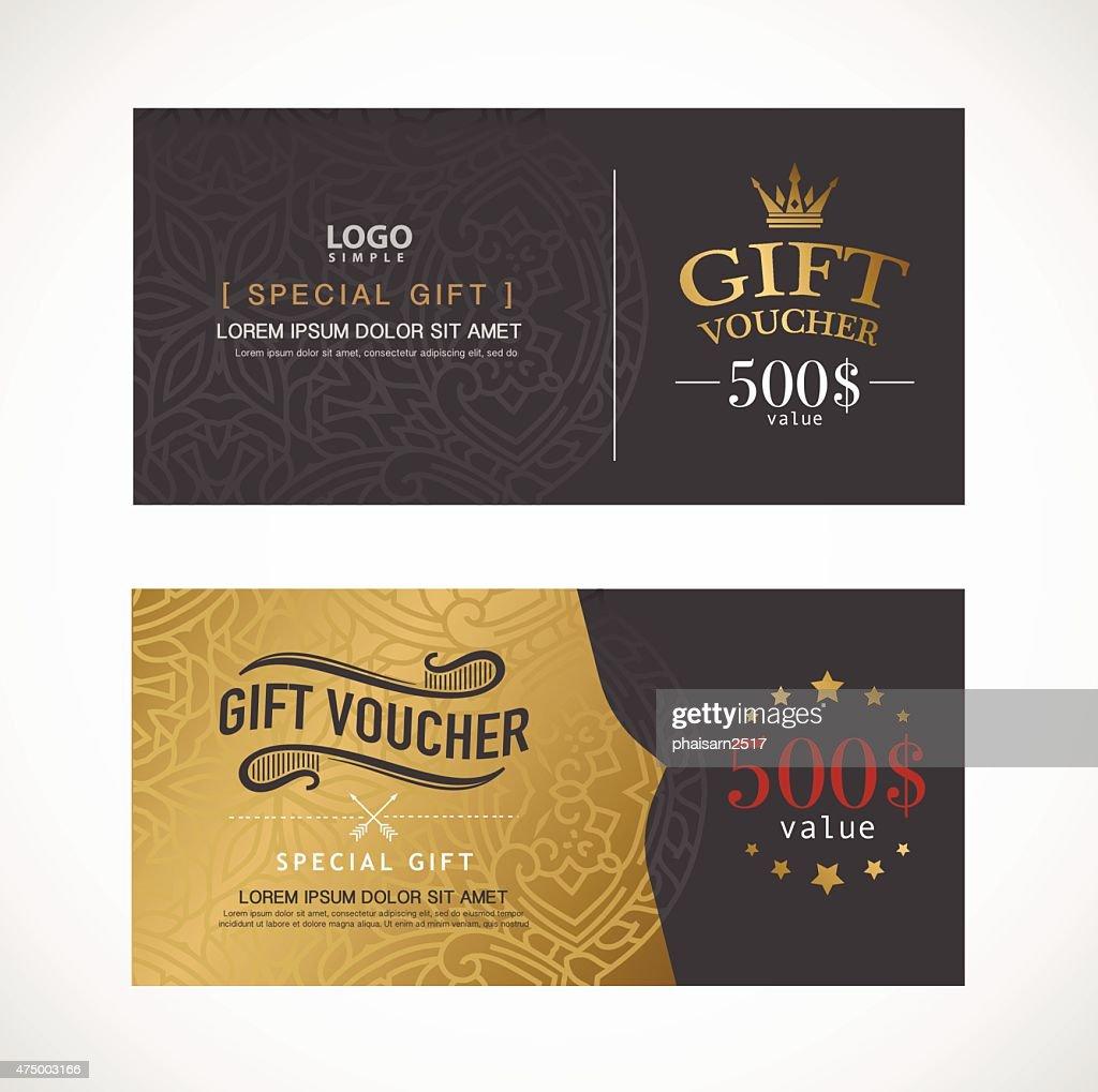 Voucher template with premium modern design template. vector