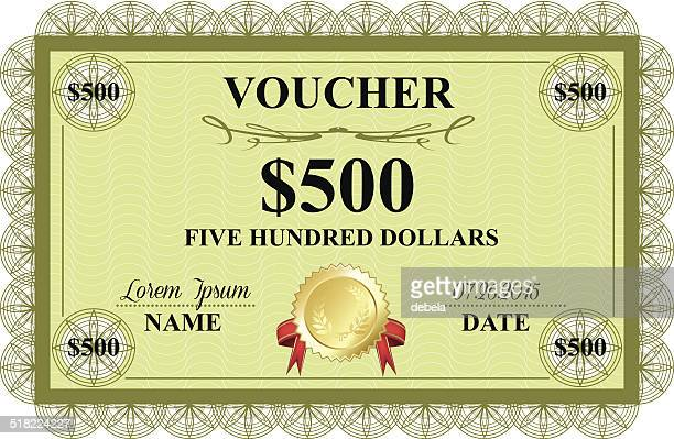 voucher - number 500 stock illustrations