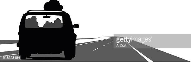 voyage by car - suv stock illustrations, clip art, cartoons, & icons