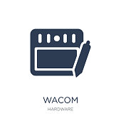 Wacom icon. Trendy flat vector Wacom icon on white background from hardware collection
