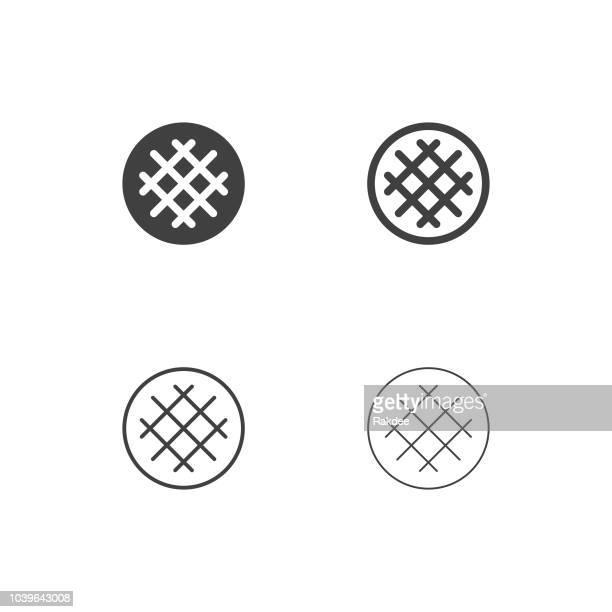 waffle icons - multi series - waffle stock illustrations