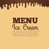 Waffle texture background for cafe menu design