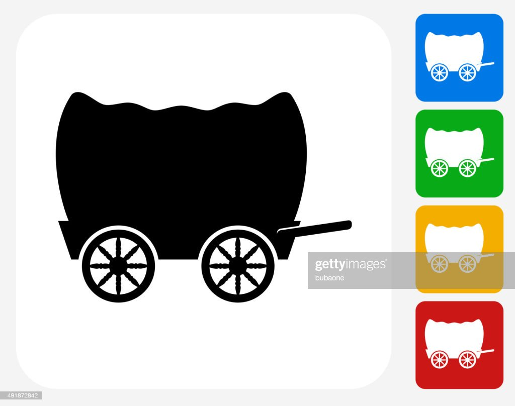 Wagon Icon Flat Graphic Design