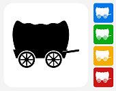 Wagon Icon Flat Graphic Design