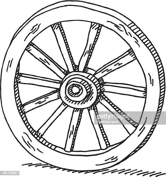 wagon wheel drawing - wheel stock illustrations, clip art, cartoons, & icons