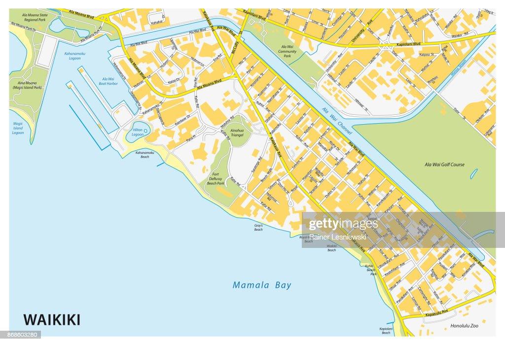 Waikiki street map