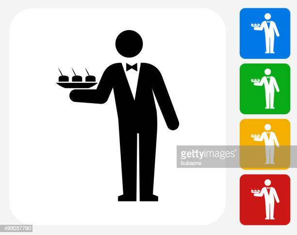 Waiter Icon Flat Graphic Design