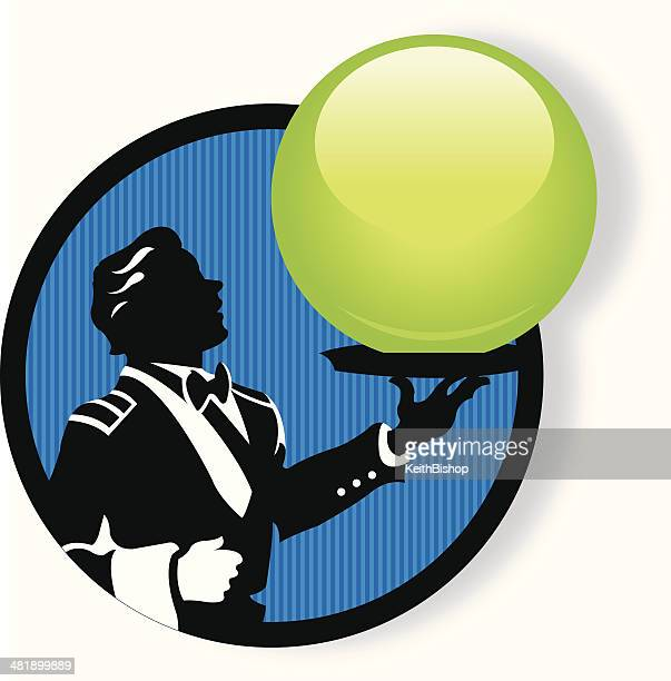 waiter serving up anything you like - butler stock illustrations, clip art, cartoons, & icons