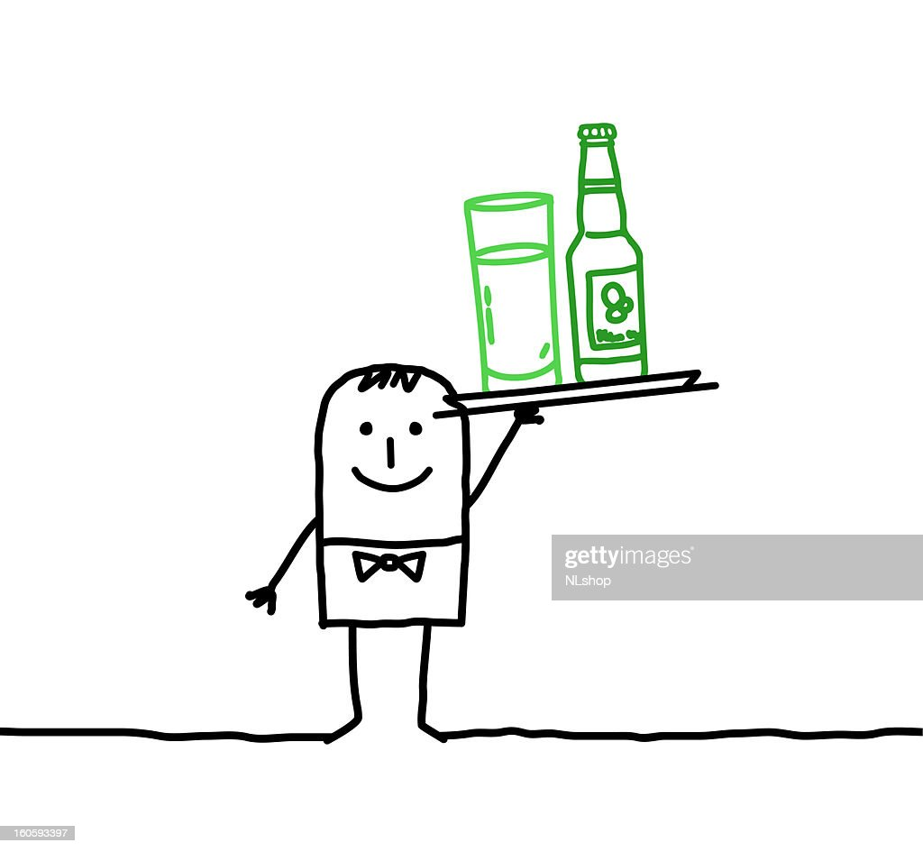 Waiter with drink