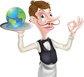 Waiter with Globe
