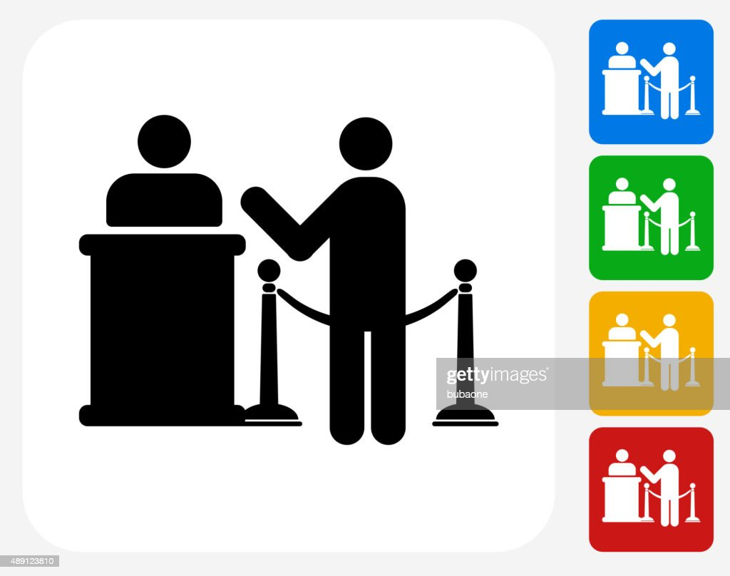 Waiting in Line Icon Flat Graphic Design