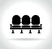 waiting room seats icon