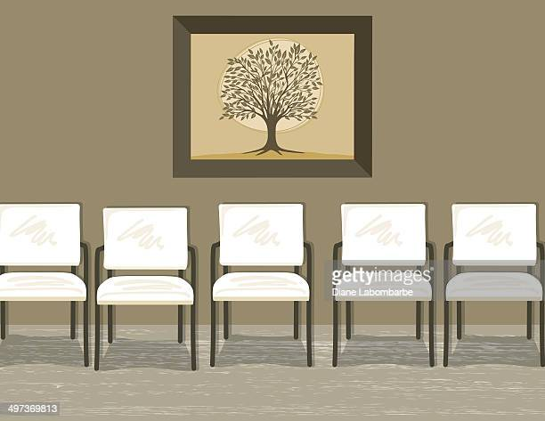 Waiting Room With Chairs and Painting