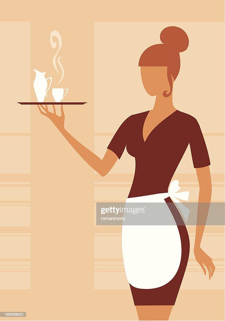 Waitress : stock illustration