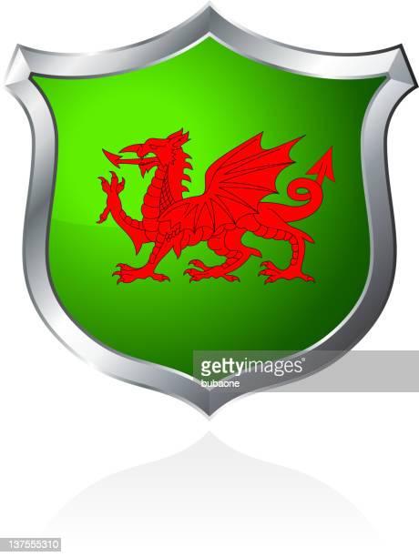 Wales Dragon on shield