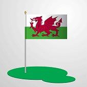 Wales Flag Pole