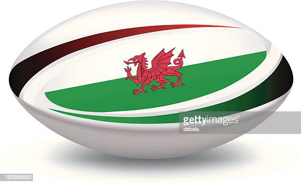 wales rugby ball - rugby ball stock illustrations, clip art, cartoons, & icons