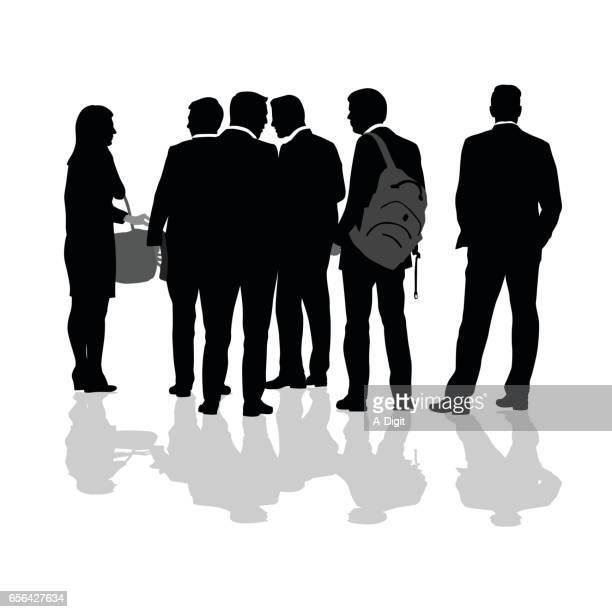 Walk And Talk Business Crowd