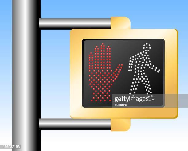 walk don't walk sign - walk don't walk signal stock illustrations