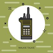Walkie Talkie Military Icon