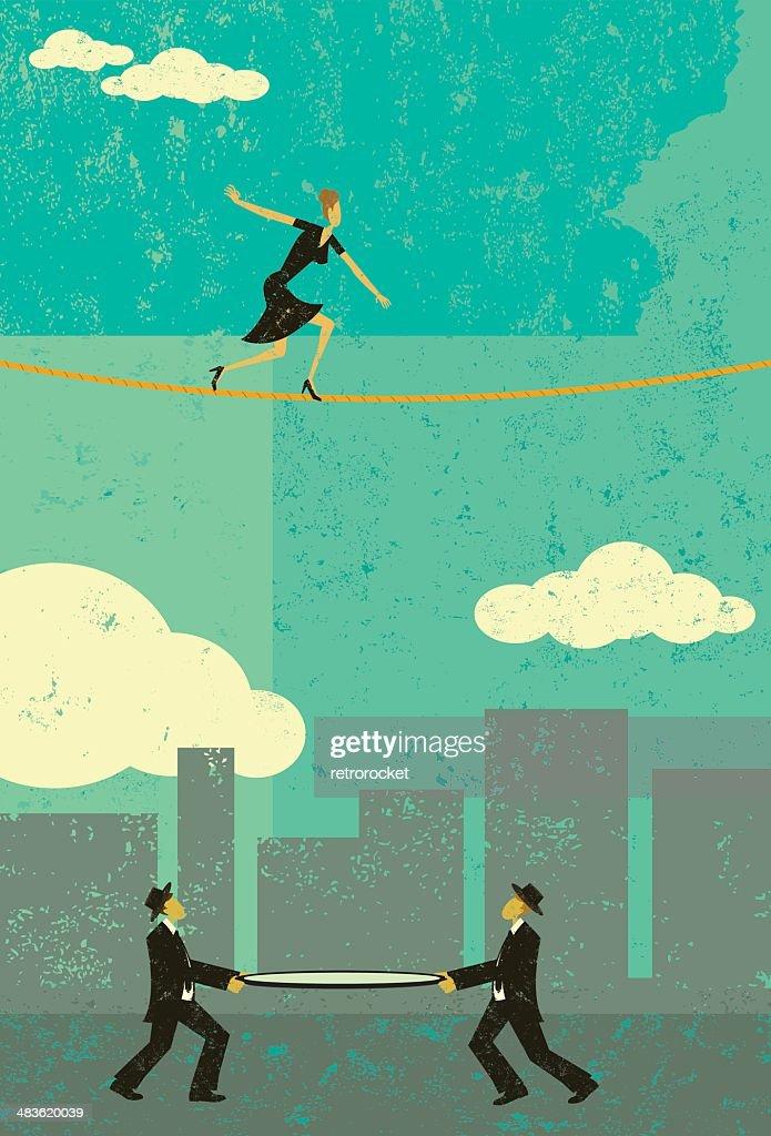 https://www.istockphoto.com/vector/walking-a-tightrope-gm483620039-17751560