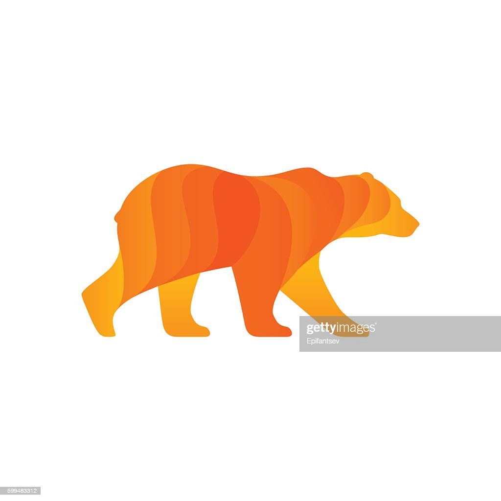 Walking bear silhouette