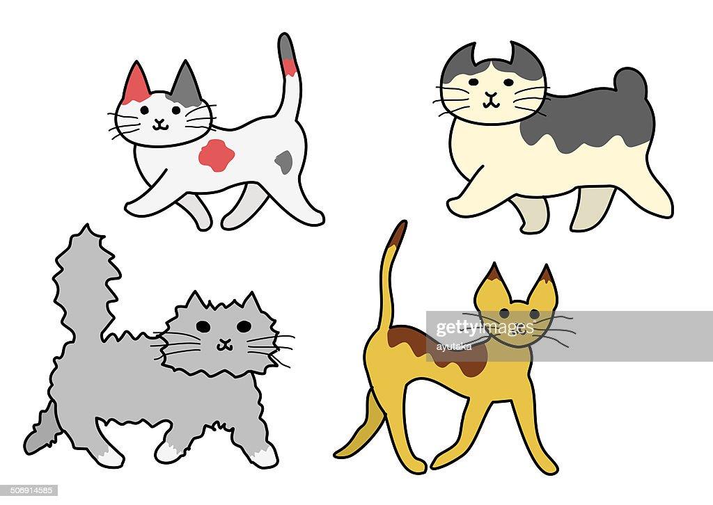 walking cats