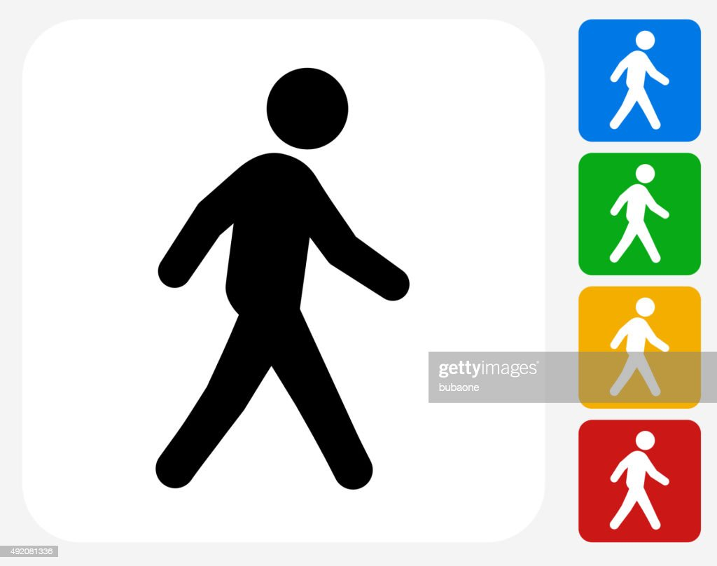 Walking Icon Flat Graphic Design