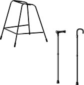 Walking Stick and Zimmer Frame