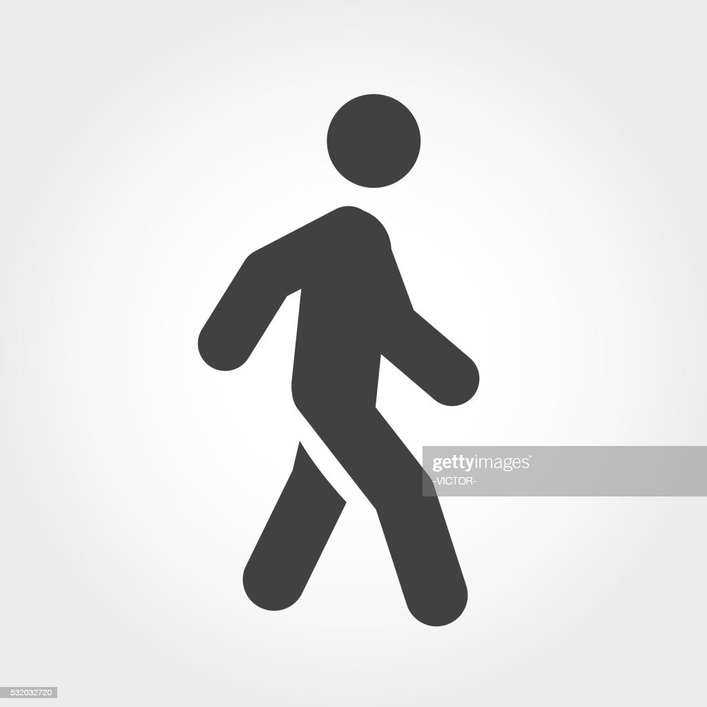 Walking Stick Figure Icon - Iconic Series