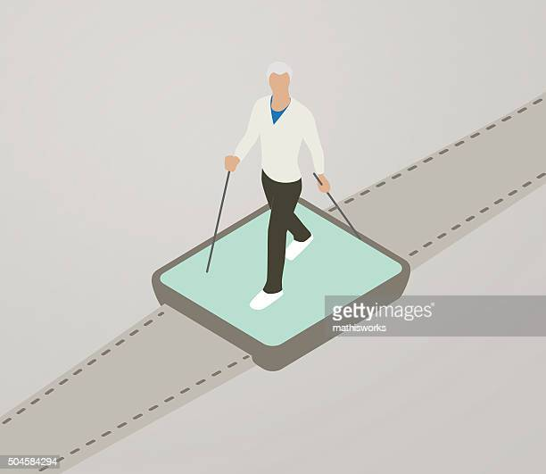 Walking Tracker Illustration